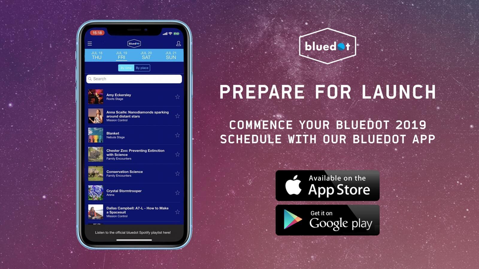 Download our bluedot 2019 app – Bluedot Festival