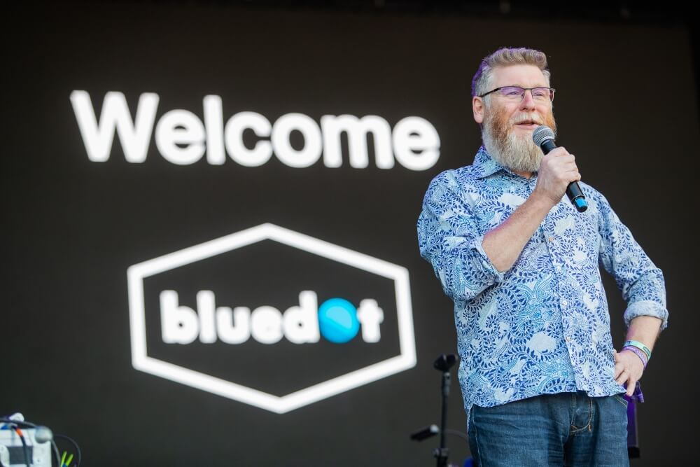 Welcome to bluedot with Tim O'Brien